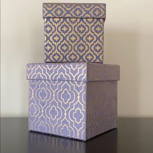 Duo of Decorative Boxes -2pcs